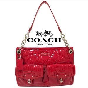 Coach Liquid Poppy Patent Leather Crossbody Bag